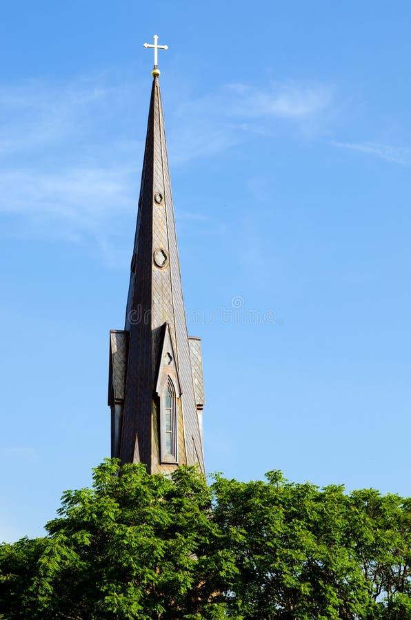 Kyrktorn av den historiska kyrkan fotografering för bildbyråer