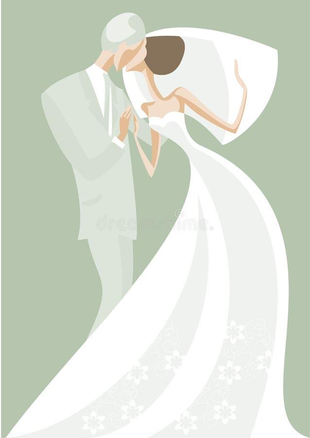 kyss vektor illustrationer