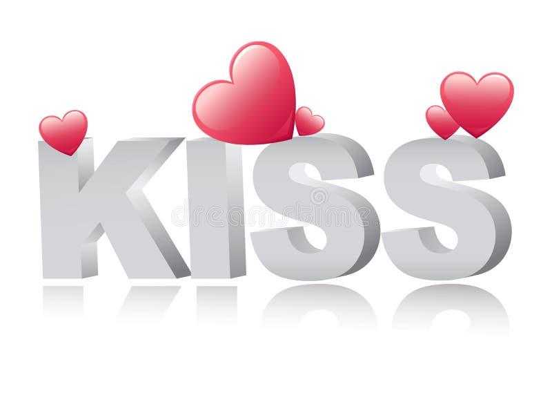 kyss stock illustrationer