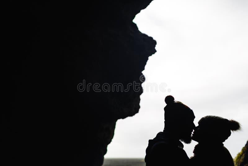 Kyss av vänner royaltyfria bilder