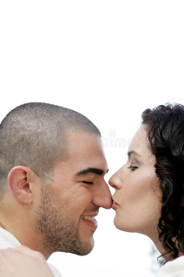 kyssande näsa royaltyfri foto