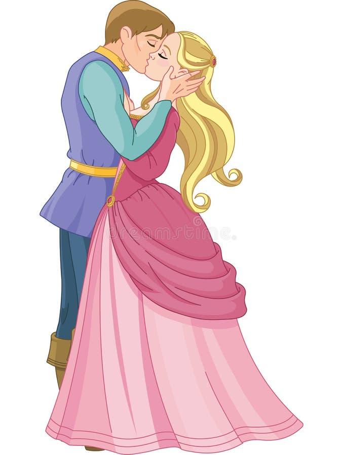 Kyssande par stock illustrationer