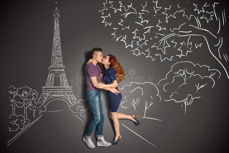 kyssparis romantiker fotografering för bildbyråer