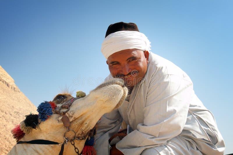 Kysst av en kamel arkivfoton