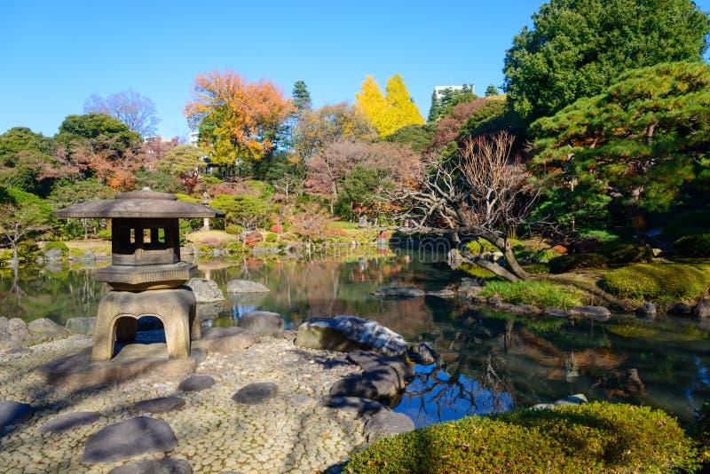 Kyu-Furukawa Gardens in autumn in Tokyo royalty free stock images