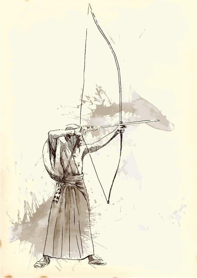 Kyudo бесплатная иллюстрация