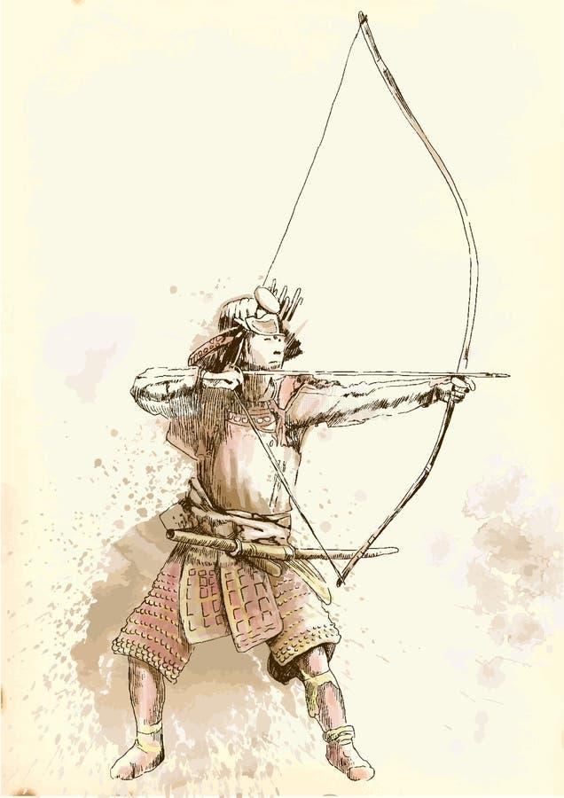 Kyudo illustration de vecteur