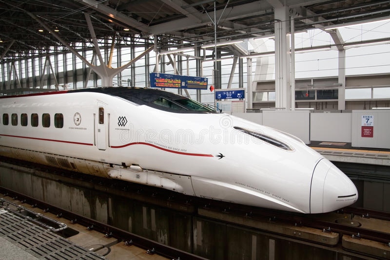 Kyushu Shinkansen 800 reeksenultrasnelle trein royalty-vrije stock foto's
