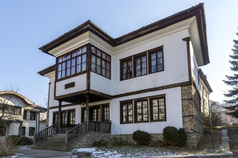 Building of Ilyo Voyvoda Museum in Town of Kyustendil, Bulgaria. KYUSTENDIL, BULGARIA - JANUARY 15, 2015: Building of Ilyo Voyvoda Museum in Town of Kyustendil stock image