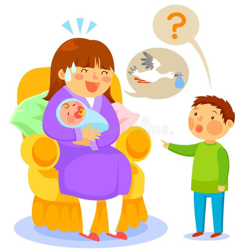 Là où faites les bébés viennent de illustration stock