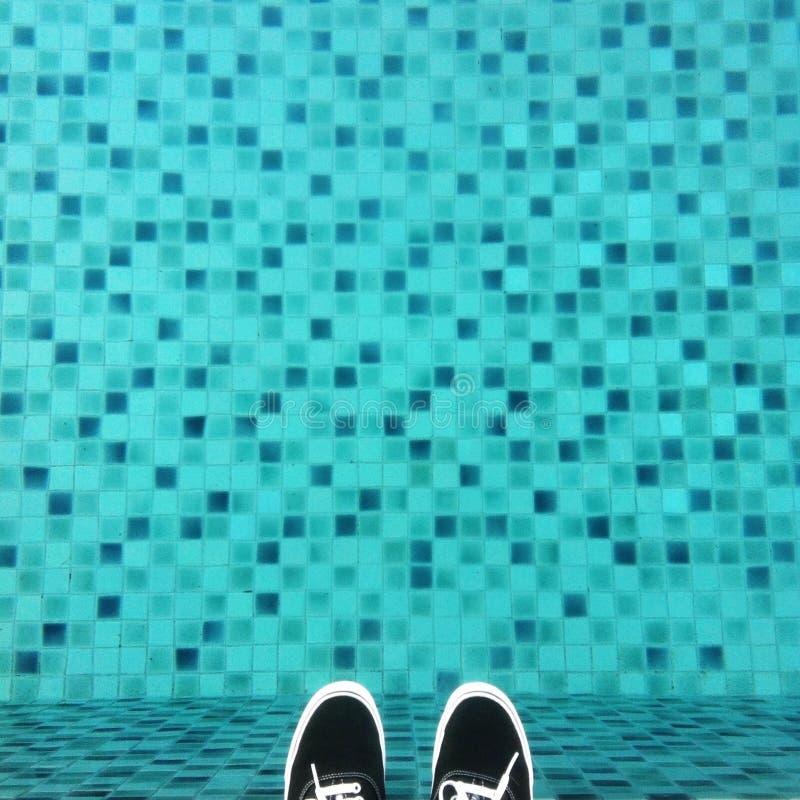 Là où je me tiens : piscine de pixel image stock