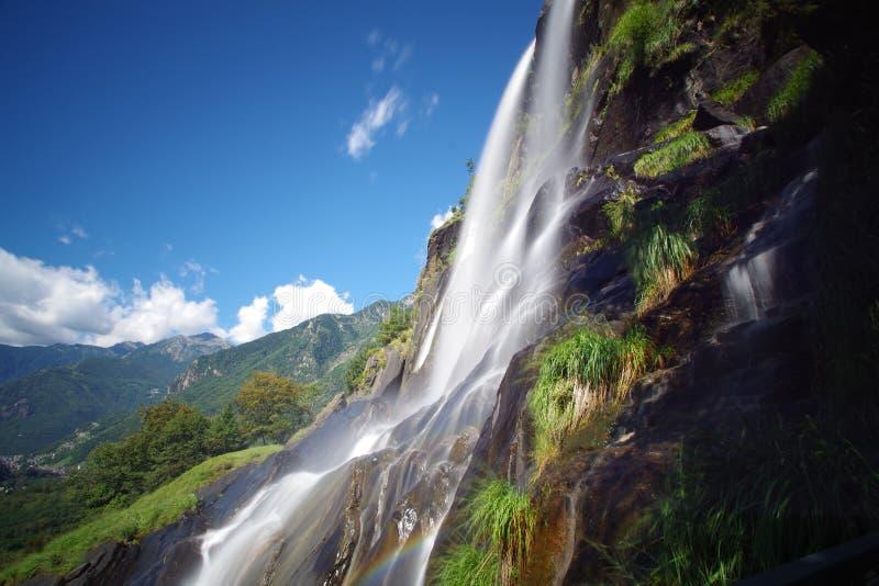 Là où la cascade est née photo libre de droits