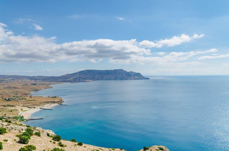 Là où la mer rencontre la terre photos libres de droits