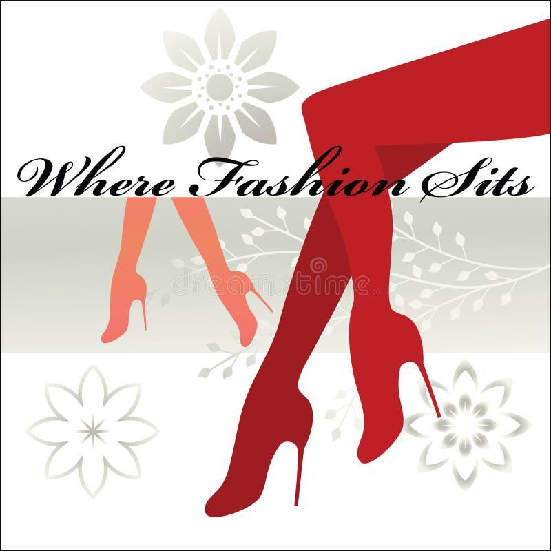 Là où la mode se repose - les pattes et les pieds bien faits   illustration stock