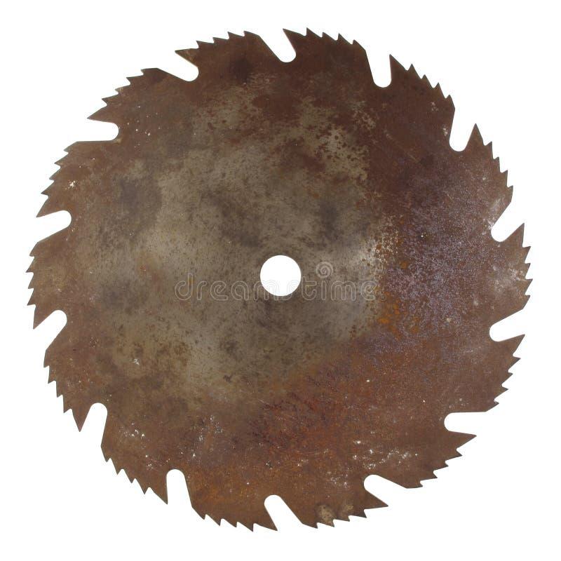 Lámina de sierra oxidada vieja imagen de archivo libre de regalías