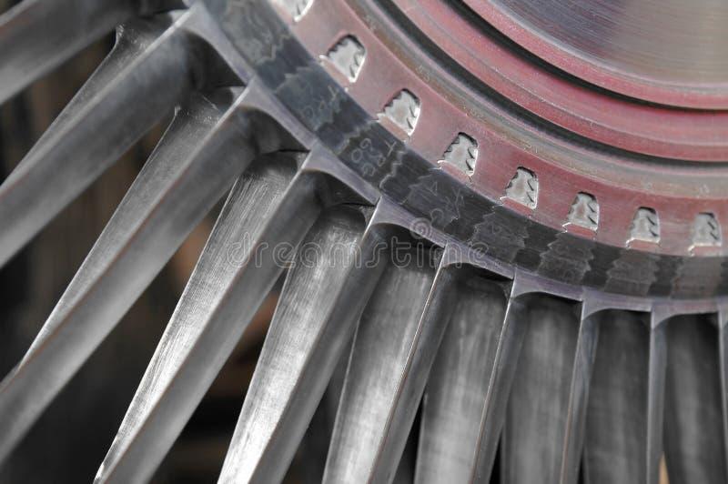 Láminas de turbina fotografía de archivo