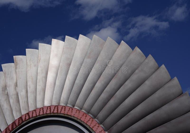 Láminas de turbina fotos de archivo