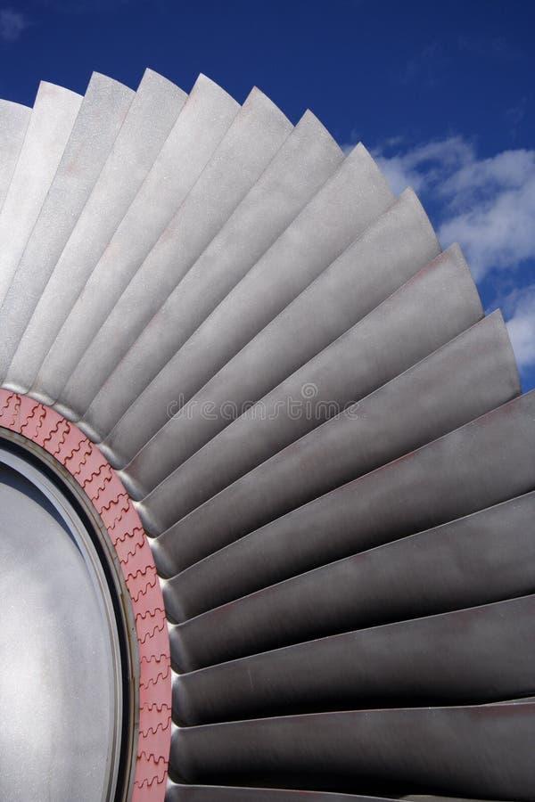 Láminas de turbina imagen de archivo libre de regalías