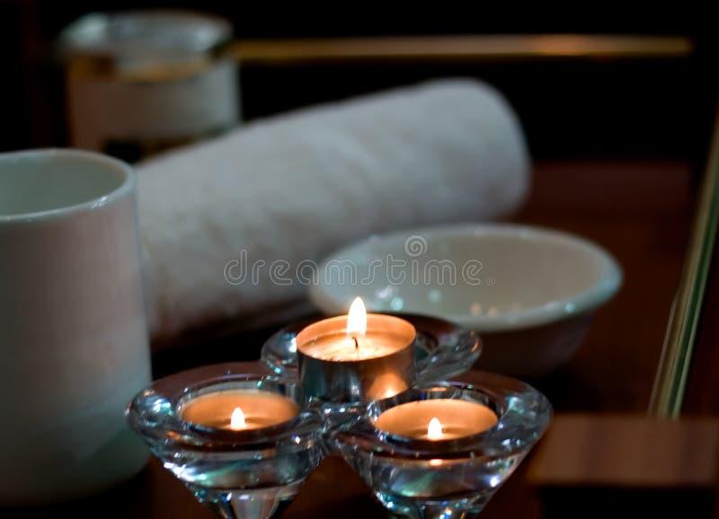 lámpara accesoria del aroma del balneario foto de archivo libre de regalías