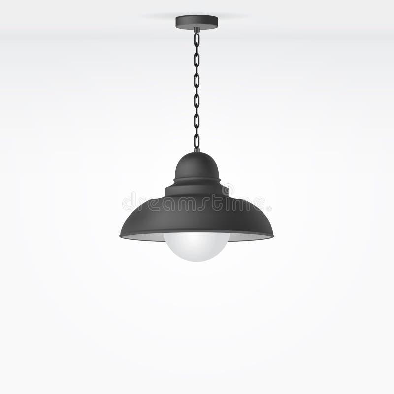 Lámpara aislada vector ilustración del vector