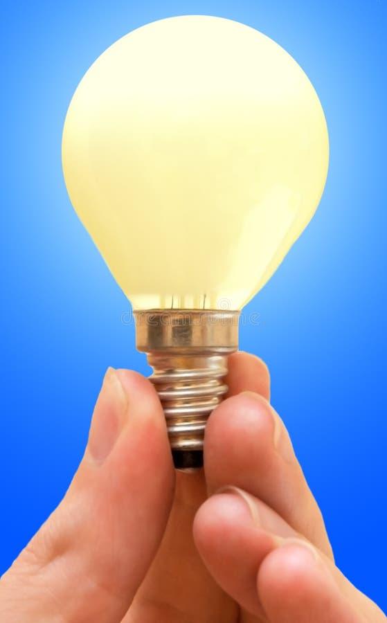 Lámpara amarilla imagen de archivo