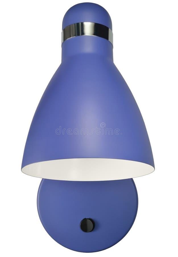 Lámpara azul del cuello de cisne de la cama del aplique de la pared, lámpara casera Superficie-montada moderna, detalle aislado d fotografía de archivo libre de regalías