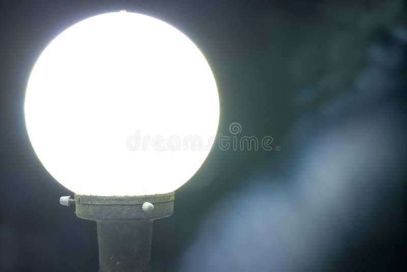 Lámpara blanca redonda fotografía de archivo