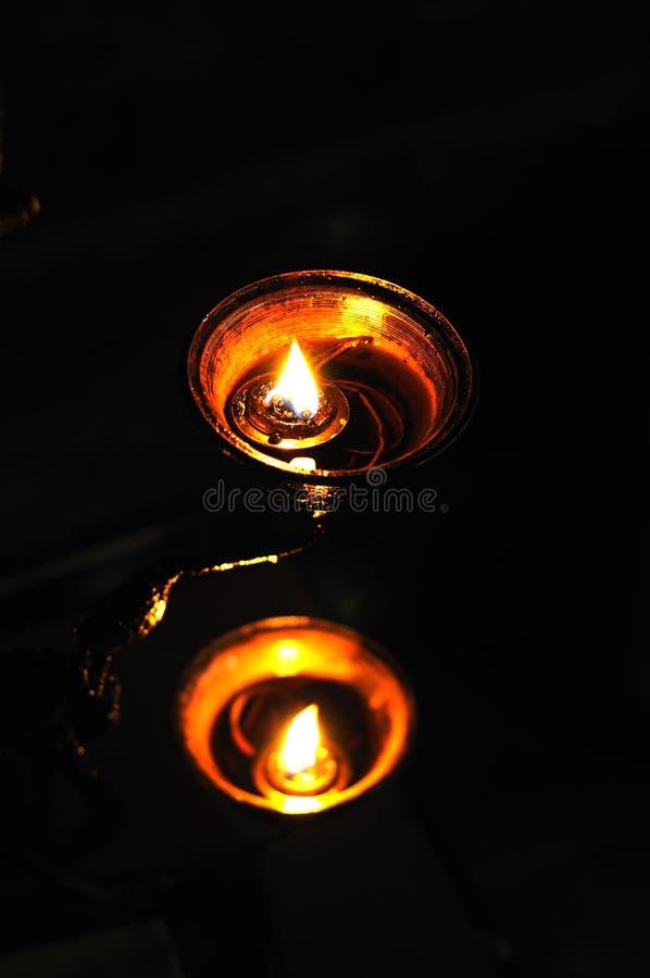 Lámpara budista de la mantequilla fotos de archivo