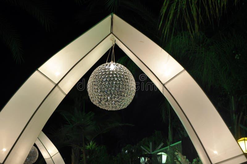 Lámpara celebradora imagen de archivo libre de regalías