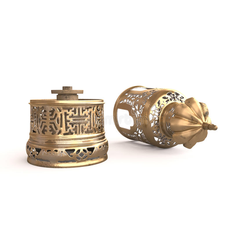 Lámpara china del opio foto de archivo libre de regalías