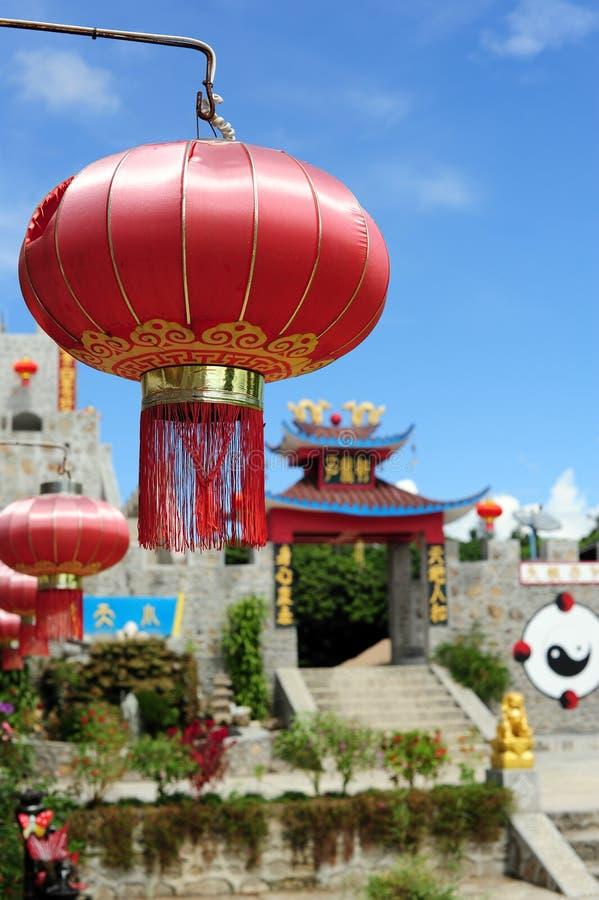 Lámpara china roja fotos de archivo libres de regalías