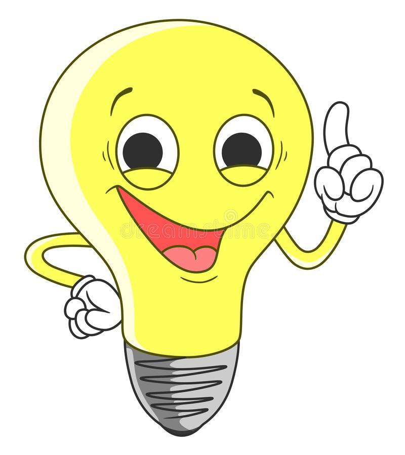 Lámpara con el dedo arriba libre illustration