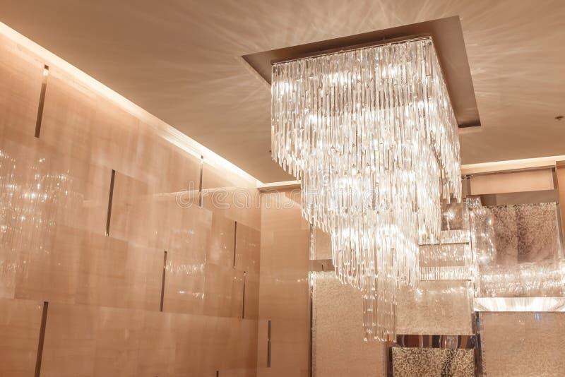 Lámpara con el tono caliente y del vintage para el diseño de interiores foto de archivo libre de regalías