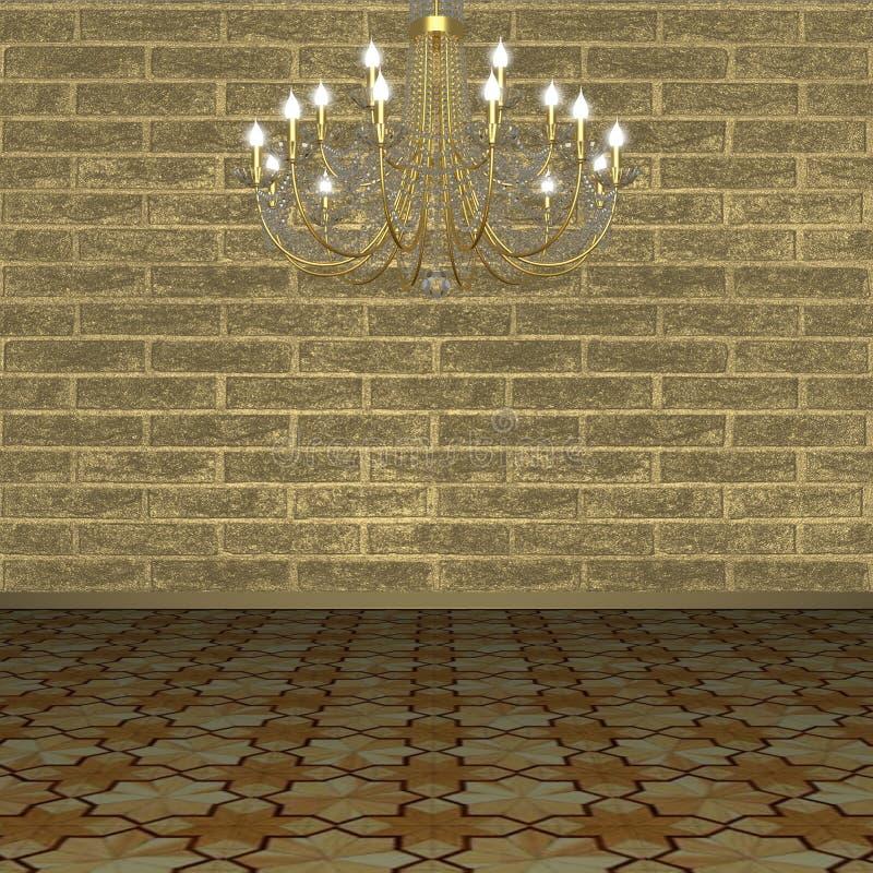 Lámpara contra la perspectiva de una pared de ladrillo. fotografía de archivo libre de regalías