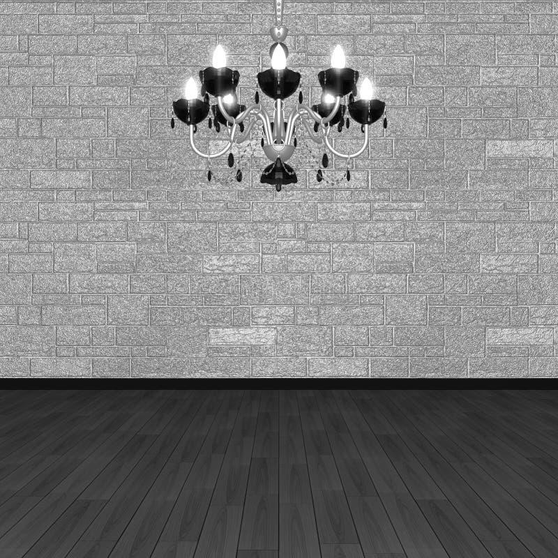 Lámpara contra la perspectiva de una pared de piedra imagen de archivo libre de regalías