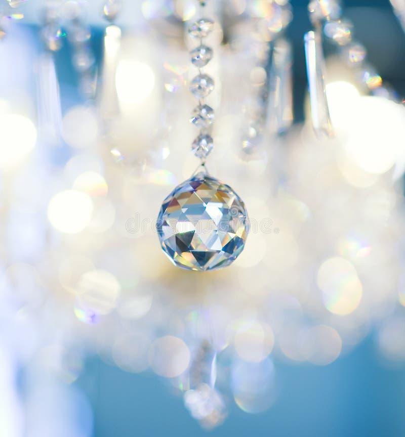 Lámpara cristalina de la vendimia imagen de archivo libre de regalías