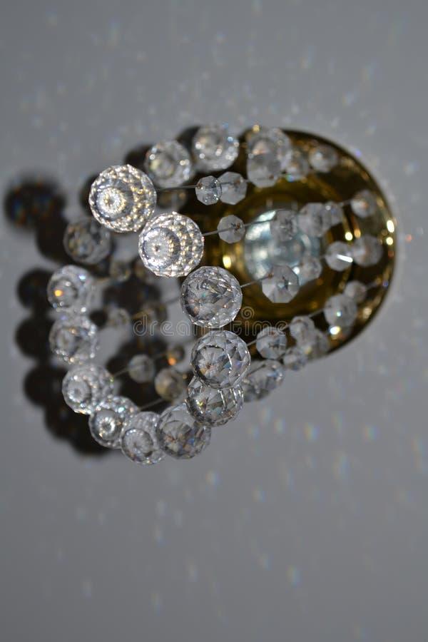 Lámpara cristalina hermosa foto de archivo