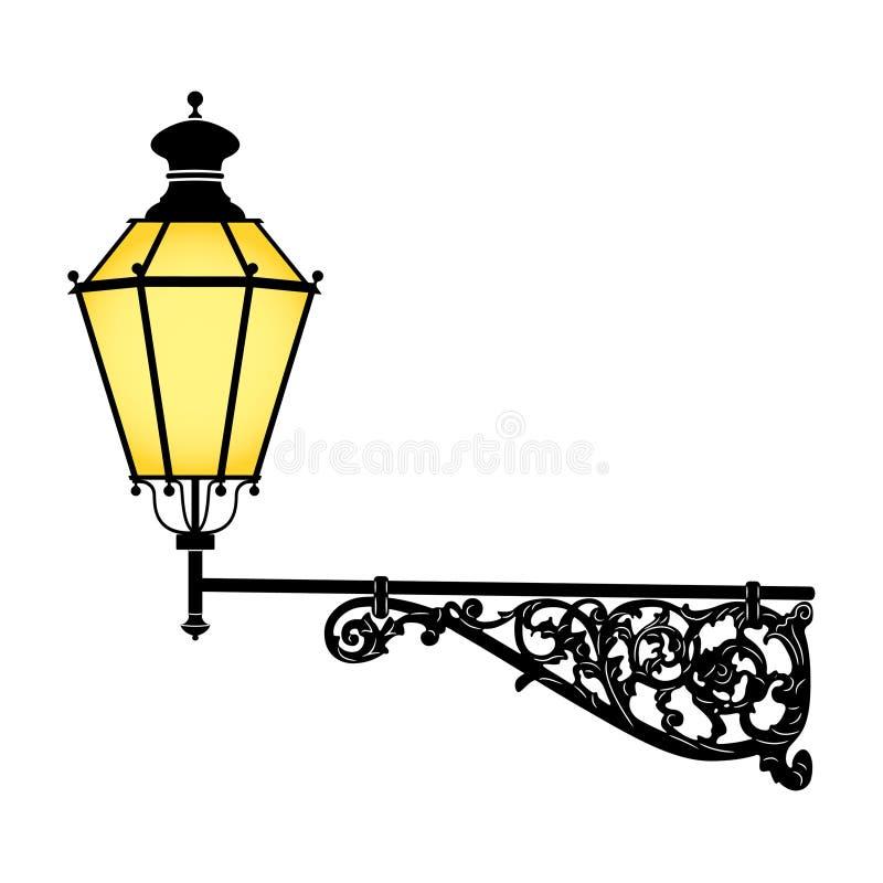 Lámpara de calle stock de ilustración