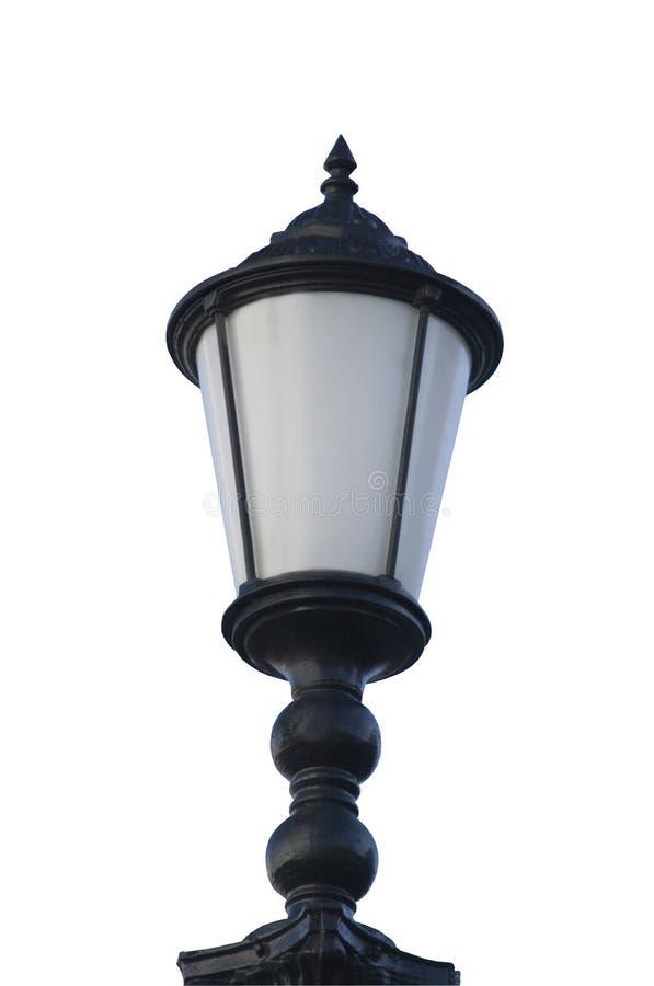 Lámpara de calle aislada sobre blanco imágenes de archivo libres de regalías