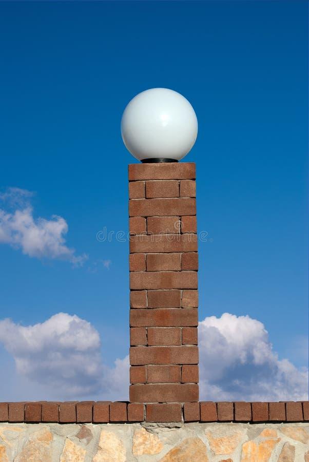 Lámpara de calle de la bola foto de archivo