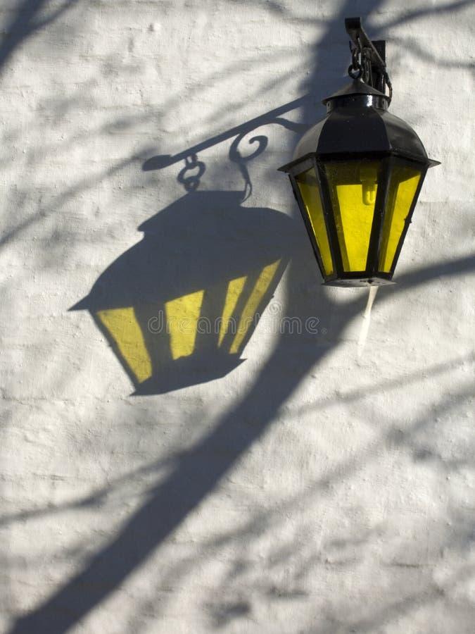 Lámpara de calle en Colonia, Uruguay fotografía de archivo