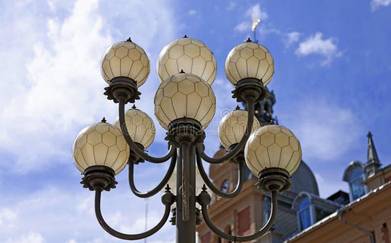 Lámpara de calle en Sundsvall durante el día foto de archivo libre de regalías