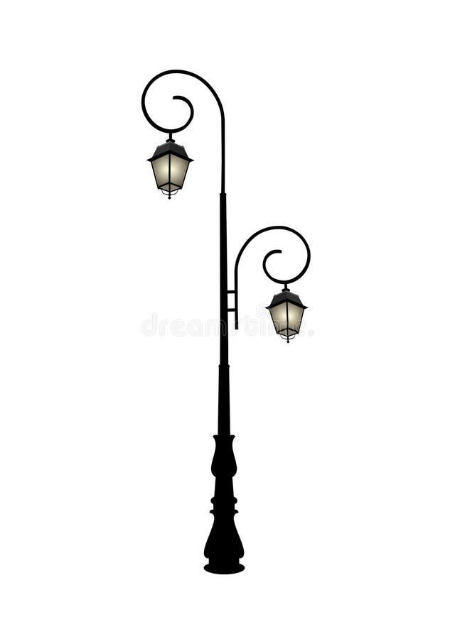 Download Lámpara de calle retra stock de ilustración. Ilustración de negro - 7151599
