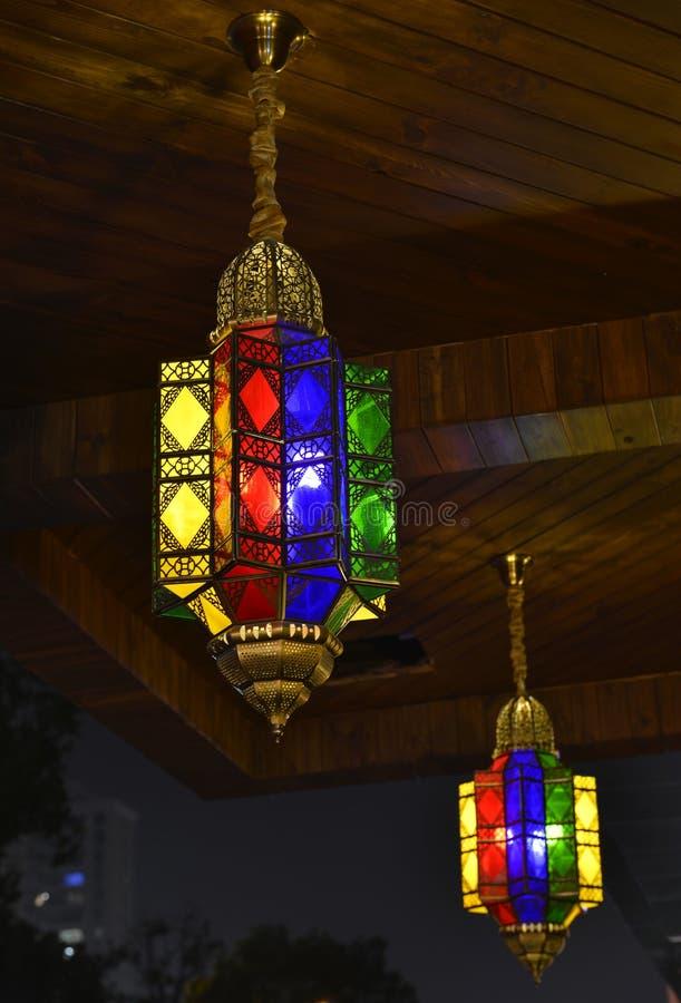 Lámpara de cristal bronceada