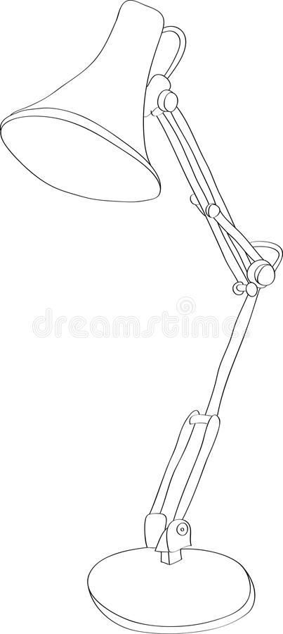 Lámpara de escritorio ilustración del vector
