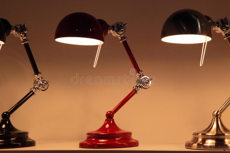 Lámpara de escritorio imágenes de archivo libres de regalías