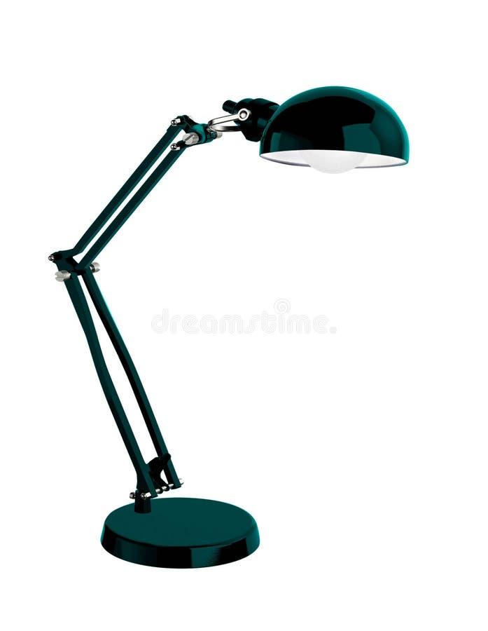 Lámpara de escritorio negra del vintage fotografía de archivo libre de regalías