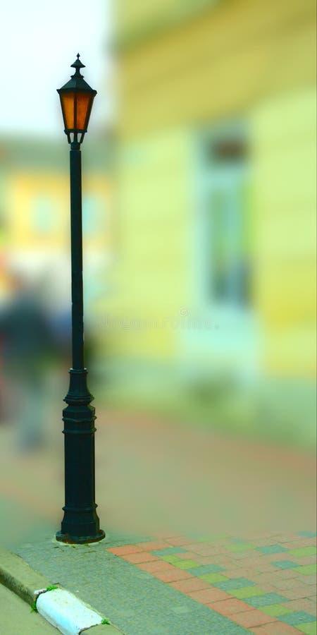 Lámpara de gas vieja de la calle imágenes de archivo libres de regalías