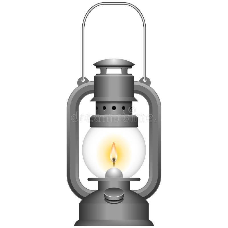 Lámpara de keroseno vieja ilustración del vector