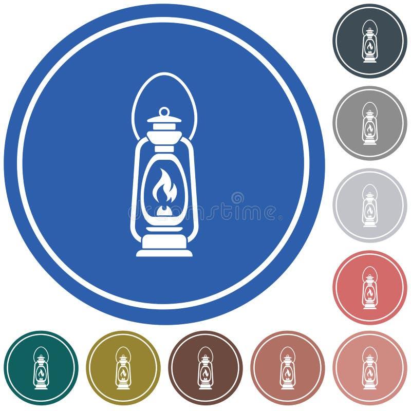 Lámpara de keroseno vieja antigua aislada Diseño retro ilustración del vector